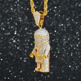 Iced Astronaut Pendant