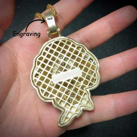 Iced Jigsaw Pendant in Gold