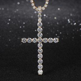 "3"" Diamond Cross Pendant in Gold"