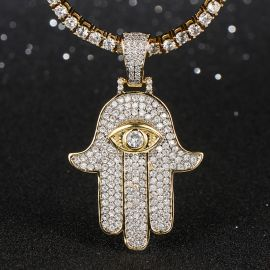 Hamsah Micro Pendant in Gold