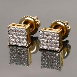 Square Stud Earrings-5*5mm
