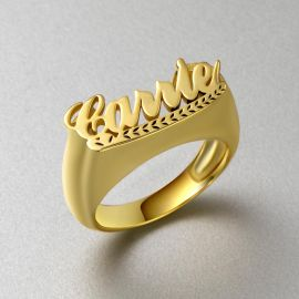 Personalized Script Name Rings