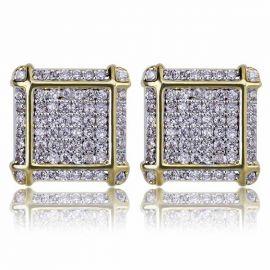 Micro Diamond Paved Stud Earring