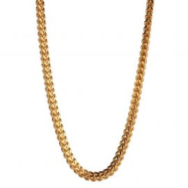 5mm 18K Gold Finish Franco Box Chain