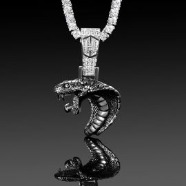 Open-Mouthed Cobra Head Pendant