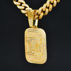 Iced Money Team Pendant in Gold