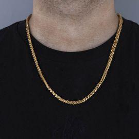 3mm Franco Box Chain in 18K Gold
