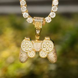 Ice Game Controller Pendant in Gold