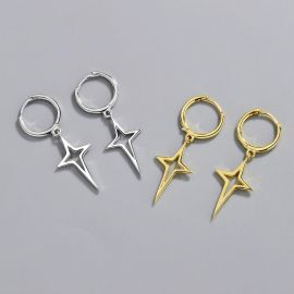 Lucky Four-pointed Star Dangle Earrings