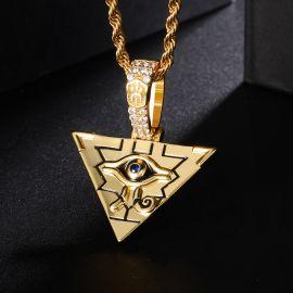Egyptian Pyramid Eye of Horus Pendant and Earrings Set