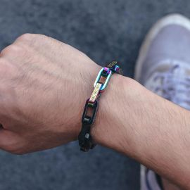 Titanium Steel Multicolor Rectangle Bracelet