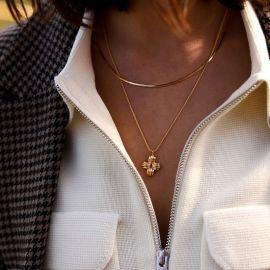 2.5mmSquare Snake Necklace