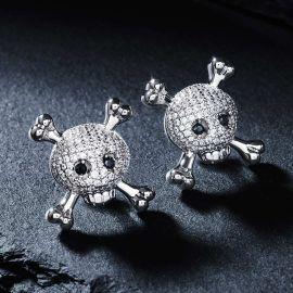 Iced Skull and Crossbones Earrings