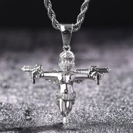 Iced Death Angel Pendant