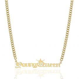Young Queen Name Necklace in Gold