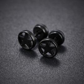 Titanium Steel Five-pointed Stud Earrings