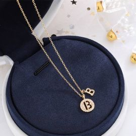 Iced Initial Letter Necklace