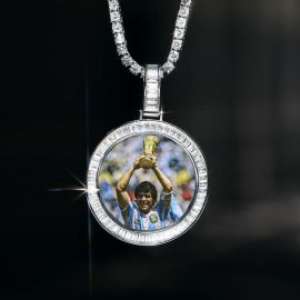 Soccer Genius Maradona Memory Pendant