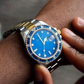 40mm Iced Blue Dial Two-tone Watch