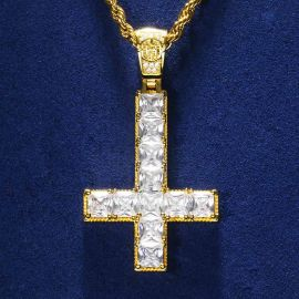 Upside Down Cross Pendant in Gold