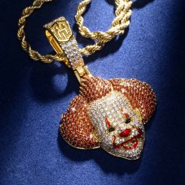 Iced Pennywise Pendant in Gold