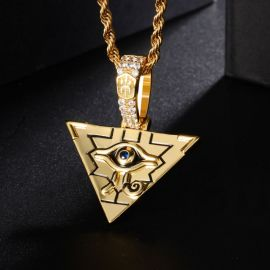 Egyptian Pyramid Eye of Horus Pendant with 24