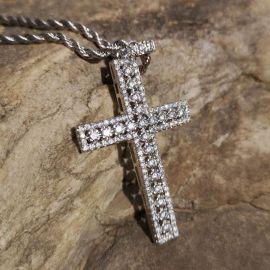 Diamonds Cross Pendant with 24