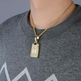 Iced 24 Jersey Pendant with 24