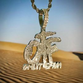 Iced ONLY THE FAM Pendant with 24