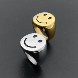 Smile Face Titanium Steel Ring
