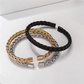 Braid Steel Wire Open Bracelet