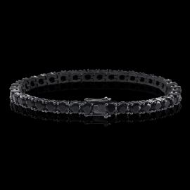 5mm Black Stones Tennis Bracelet in Black Gold