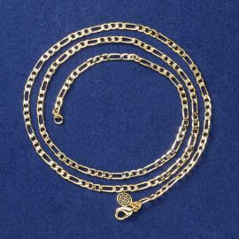 3mm Figaro Chain in Gold
