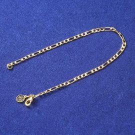 3mm Figaro Bracelet in Gold