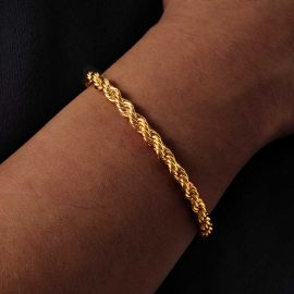 5mm Rope Bracelet in Gold