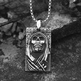 The Death Skeleton Punk Stainless Steel Pendant