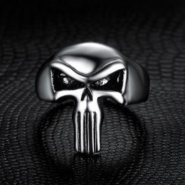 Evil Skull Titanium Steel Ring