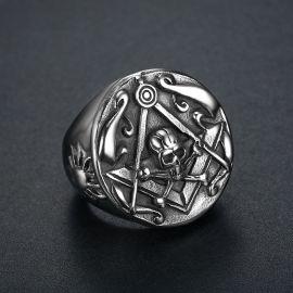 Masonic Skull Stainless Steel Ring