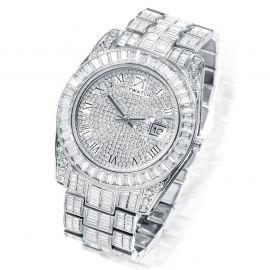 Baguette Cut Datejust Roman Numerals Alloy Watch