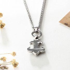 Fleur De Lis Titanium Steel Necklace