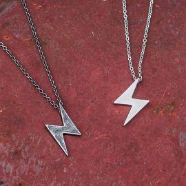 Retro Flash Lightning Titanium Steel Necklace