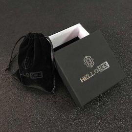 Black Braided Leather Anchor Bracelet