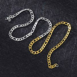 5mm Two-Tone Figaro Chain