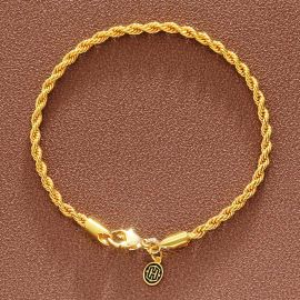 3mm Rope Bracelet in Gold