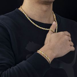 5mm Gold & Silver Two-Tone Rope Chain