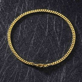 3mm Cuban Bracelet in Gold