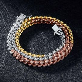 8mm Tri-Colored Cuban Link Chain