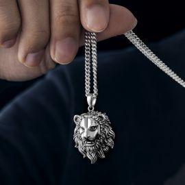 Stainless Steel Lion Head Pendant
