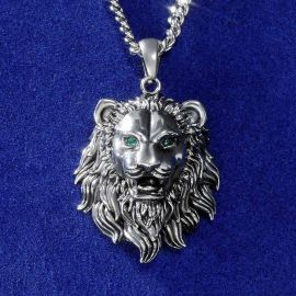 Stainless Steel Lion Head Pendant