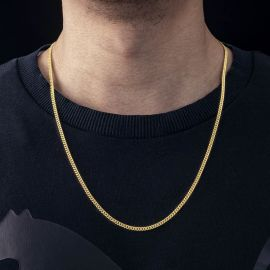 3mm Cuban Chain in Gold